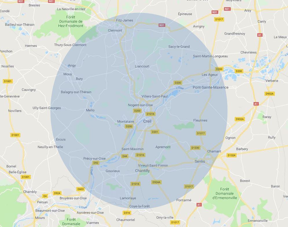 Livraison de fleurs dans l'Oise, Nogent Sur Oise, Creil, Chantilly